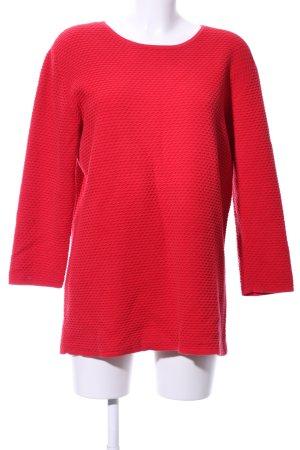 COS Kraagloze sweater rood Katoen