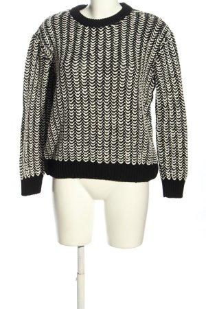 COS Rundhalspullover schwarz-weiß Casual-Look