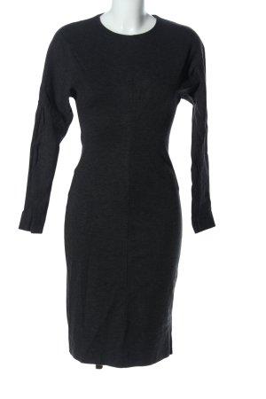COS Tube Dress black flecked business style