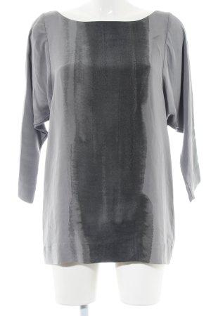 COS Blouse à enfiler gris clair-noir motif abstrait style décontracté