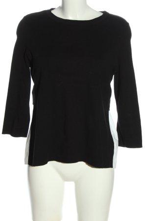 COS Schlupf-Bluse schwarz-weiß Casual-Look