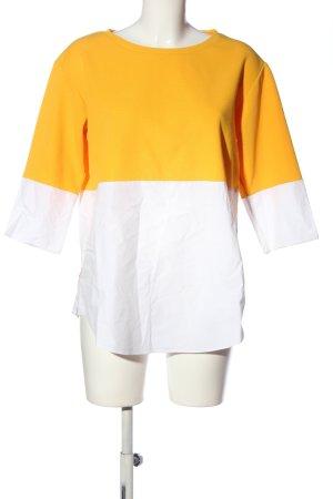 COS Schlupf-Bluse hellorange-weiß Casual-Look