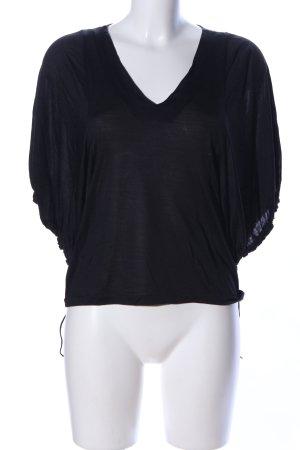 COS Schlupf-Bluse schwarz Casual-Look