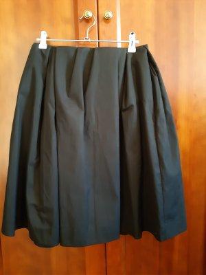 Cos: schwarzer Baumwollrock ohne Bund, Größe 36