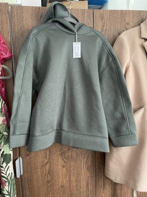 COS Sweatshirt met capuchon khaki-groen-grijs
