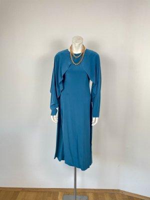 COS Sukienka z wycięciem jasnoniebieski Jedwab