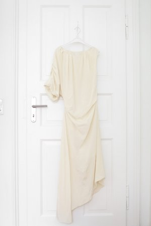 COS Vestido bustier crema Seda
