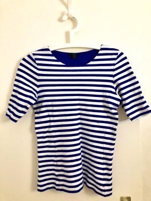 COS T-shirt rayé blanc-bleu