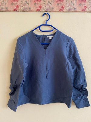 COS V-Neck Shirt cornflower blue cotton