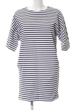 COS Shirtkleid weiß-schwarz Streifenmuster Casual-Look