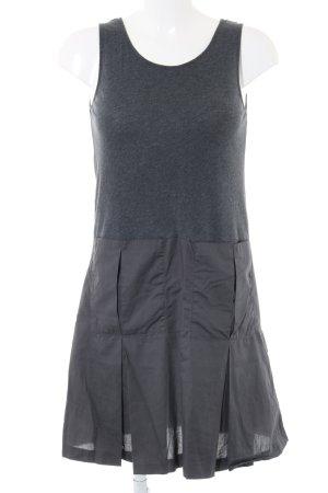 COS Vestido estilo camisa gris claro moteado look casual