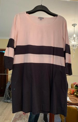 COS T-shirt jurk roségoud-zwart bruin