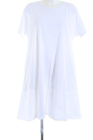 COS Sukienka o kroju koszulki biały Tkanina z mieszanych włókien