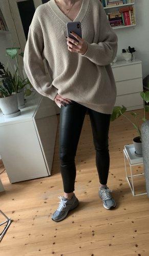 COS slim fit leather trousers/leggins Hose black 34 wie NEU 100% Leder COS