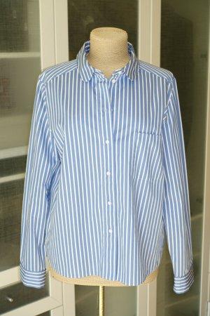 COS Streifen-Bluse in blau/weiß Gr.42