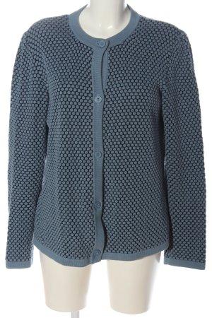 COS Strick Cardigan blau-schwarz Punktemuster Casual-Look