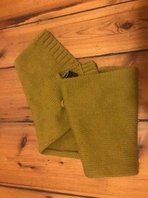 COS: Strick-Schal mit Druckknopf, senf-gelb, Baumwolle