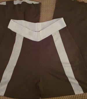COS Falda pantalón de pernera ancha negro-gris pizarra