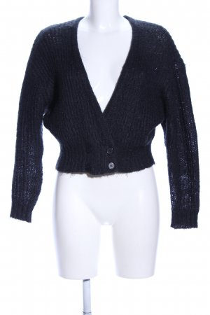 COS Strickjacke blau Zopfmuster Business-Look
