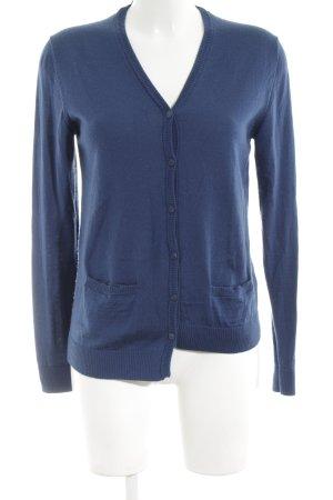 COS Strickjacke blau Casual-Look Wolle