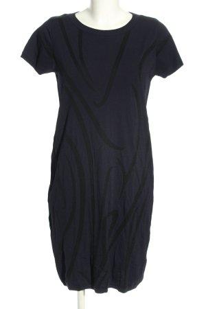 COS Robe en maille tricotées bleu-noir imprimé allover style décontracté
