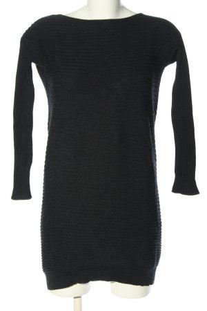 COS Strickkleid schwarz Streifenmuster Casual-Look