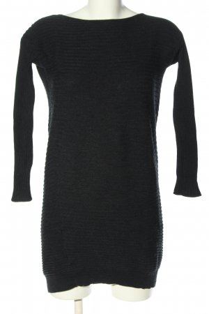 COS Gebreide jurk zwart gestreept patroon casual uitstraling