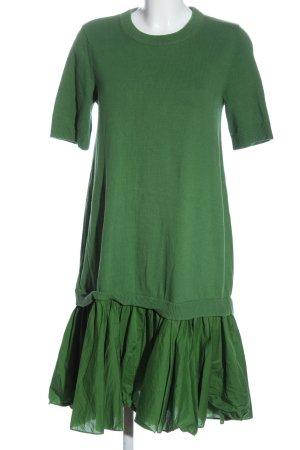 COS Gebreide jurk groen kabel steek casual uitstraling