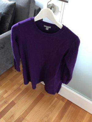 COS Robe en laine violet foncé