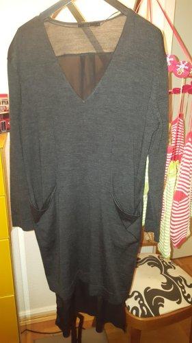 COS Robe en maille tricotées gris anthracite laine