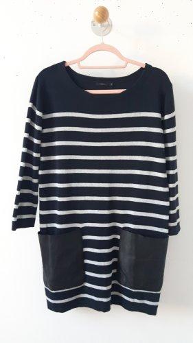 COS Knitted Dress light grey-dark blue