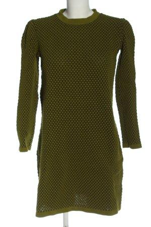 COS Sukienka z dzianiny czarny-zielony Siateczkowy wzór W stylu casual