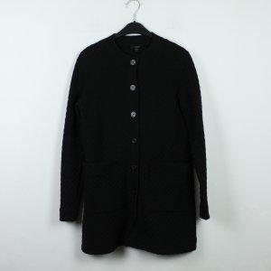 COS Knitted Coat black mixture fibre