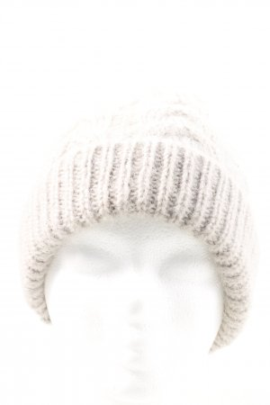 COS Chapeau en tricot gris clair torsades style décontracté