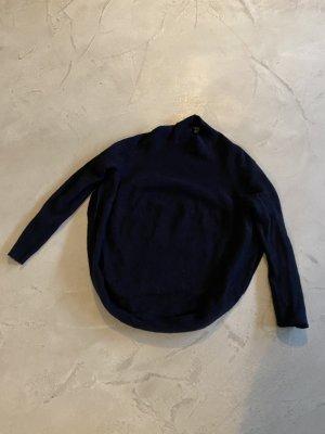 COS Poncho bleu foncé