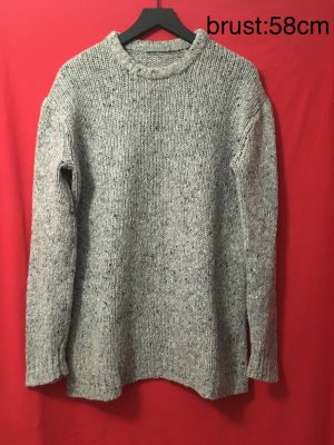 COS Coarse Knitted Sweater grey-white wool