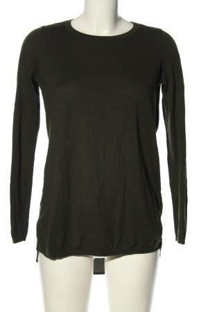 COS Gebreide trui khaki gestippeld casual uitstraling