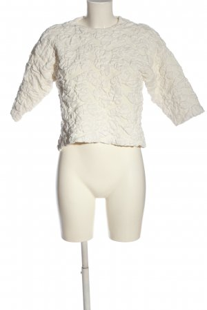 COS Strickpullover wollweiß Allover-Druck Casual-Look