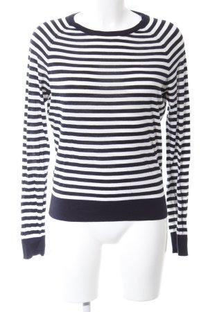COS Strickpullover schwarz-weiß Streifenmuster Casual-Look