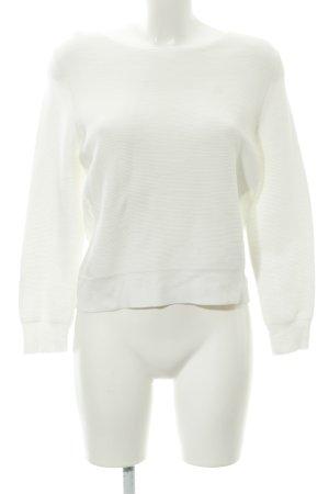 COS Pull tricoté blanc cassé coton