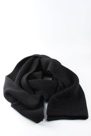 COS Écharpe en tricot noir style décontracté