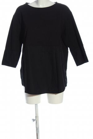 COS Strickshirt schwarz Casual-Look