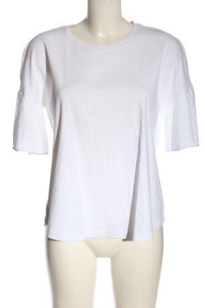 COS Camisa tejida blanco look casual
