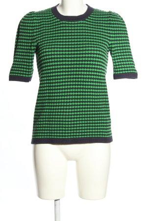 COS Strickshirt grün-schwarz Allover-Druck Casual-Look