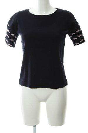 COS Strickshirt dunkelblau-hellrosa