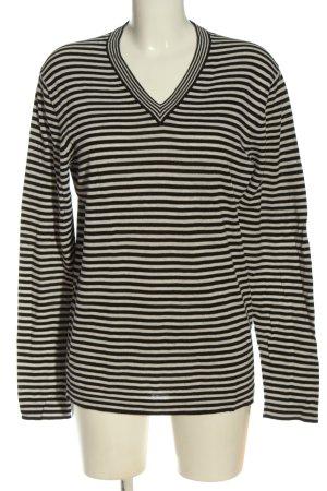 COS Strickshirt schwarz-weiß Allover-Druck Casual-Look