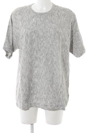 COS Strickshirt grau-hellgrau meliert Casual-Look