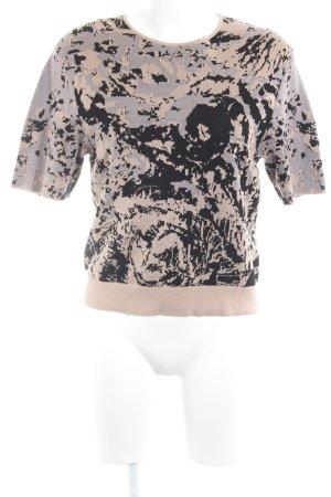 COS Strickshirt nude-schwarz abstraktes Muster Casual-Look
