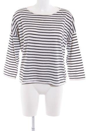 COS Strickshirt weiß-schwarz Streifenmuster Casual-Look
