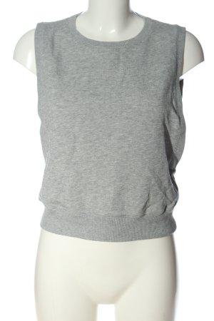 COS Gilet tricoté gris clair moucheté style décontracté